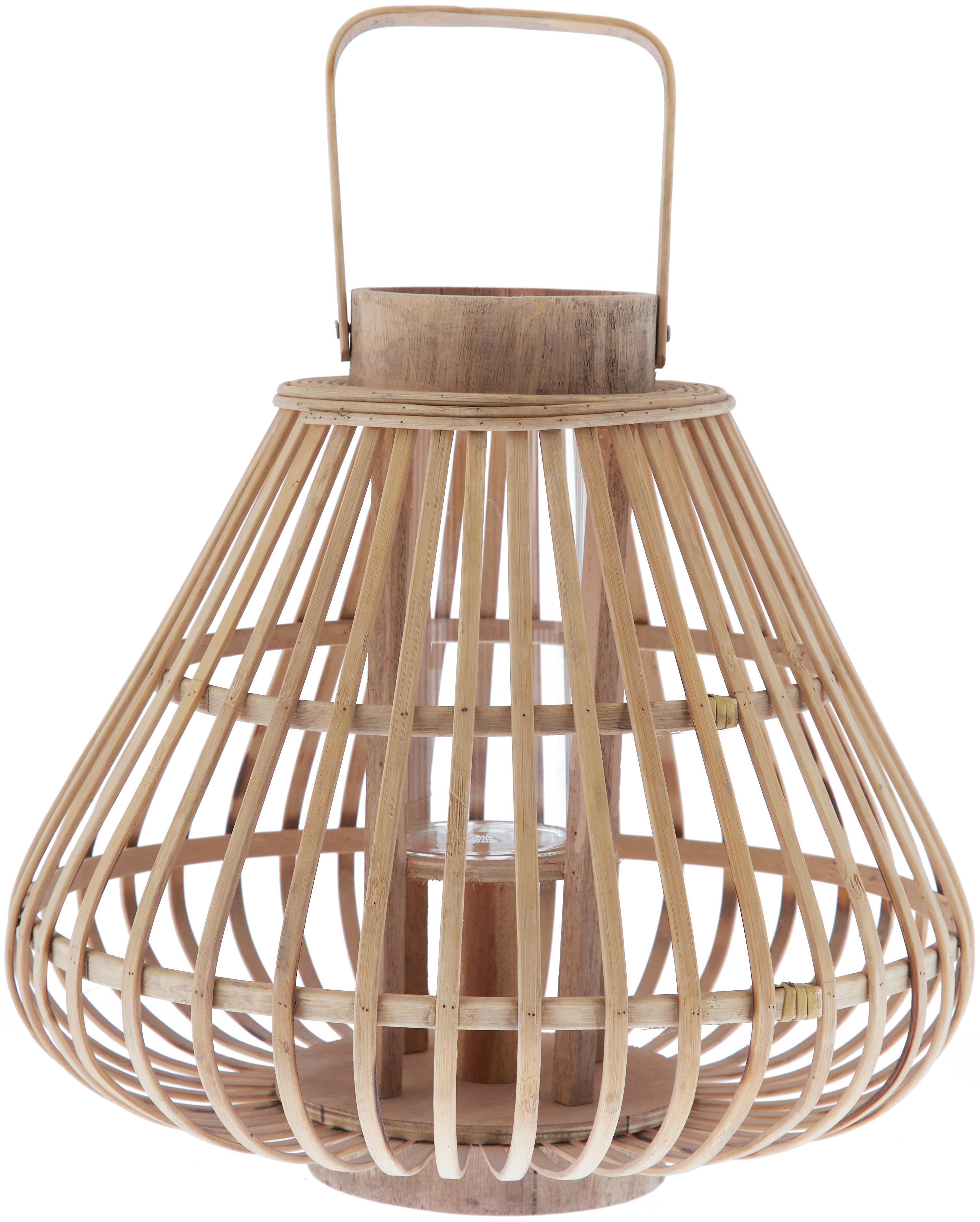 Farolillo Sahara, Bambú, Bambú, transparente, Ø 32 x Al 28 cm