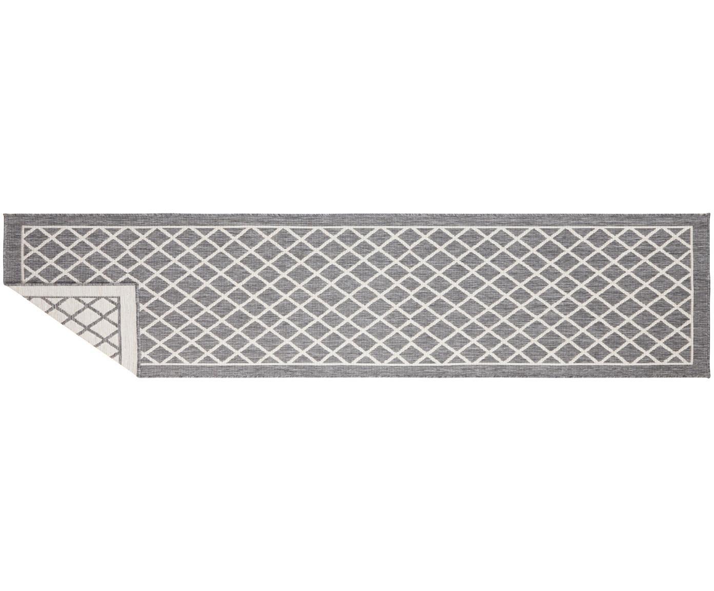 In- und Outdoor-Wendeläufer Sydney in Grau/Creme, Grau, Creme, 80 x 350 cm
