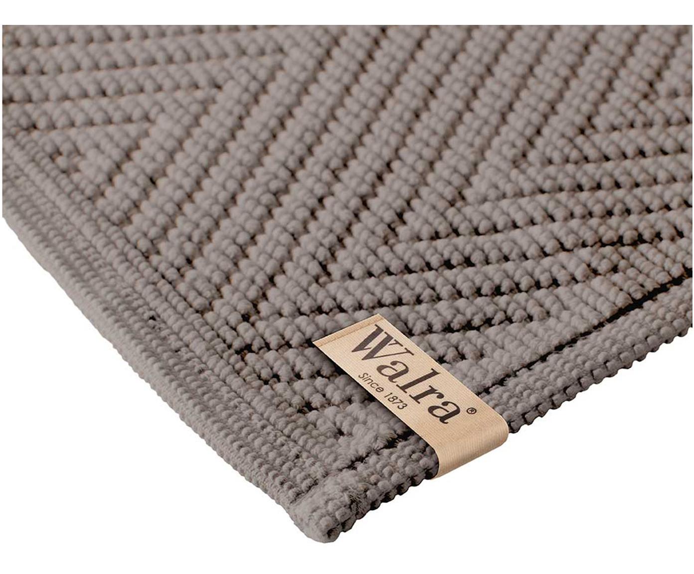 Badvorleger Soft Cotton mit Fischgrätmuster, 100% Baumwolle, Taupe, 60 x 100 cm