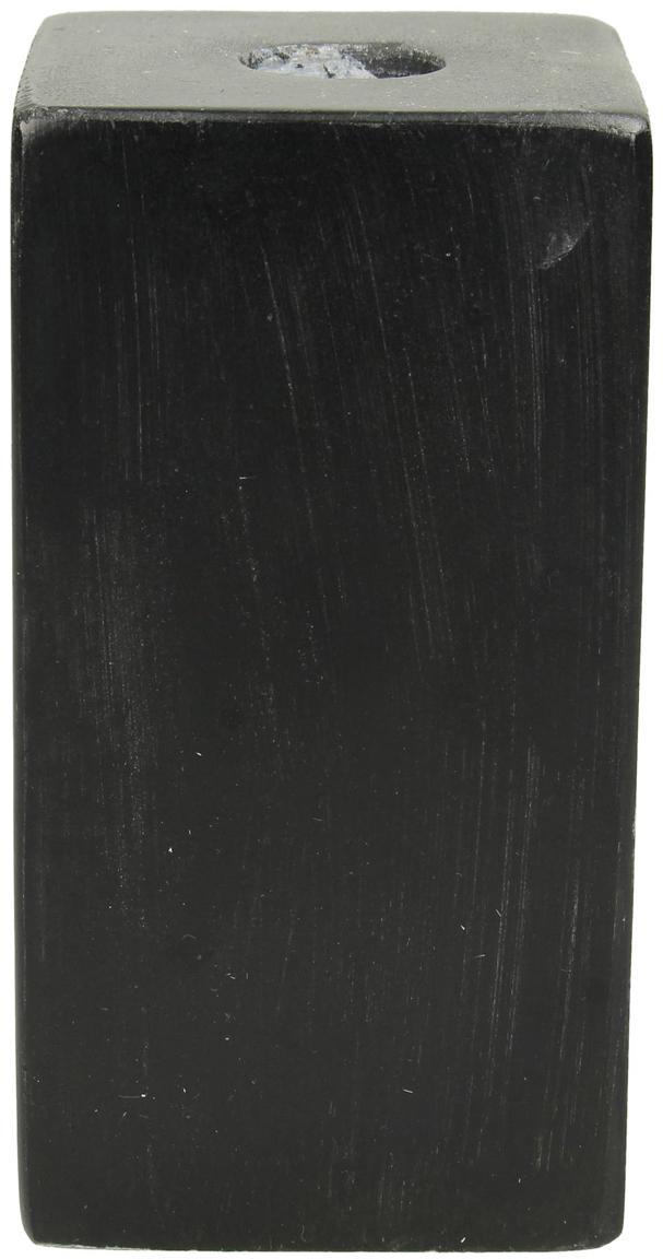 Marmeren kandelaar Marble, Marmer, Zwart, 6 x 11 cm