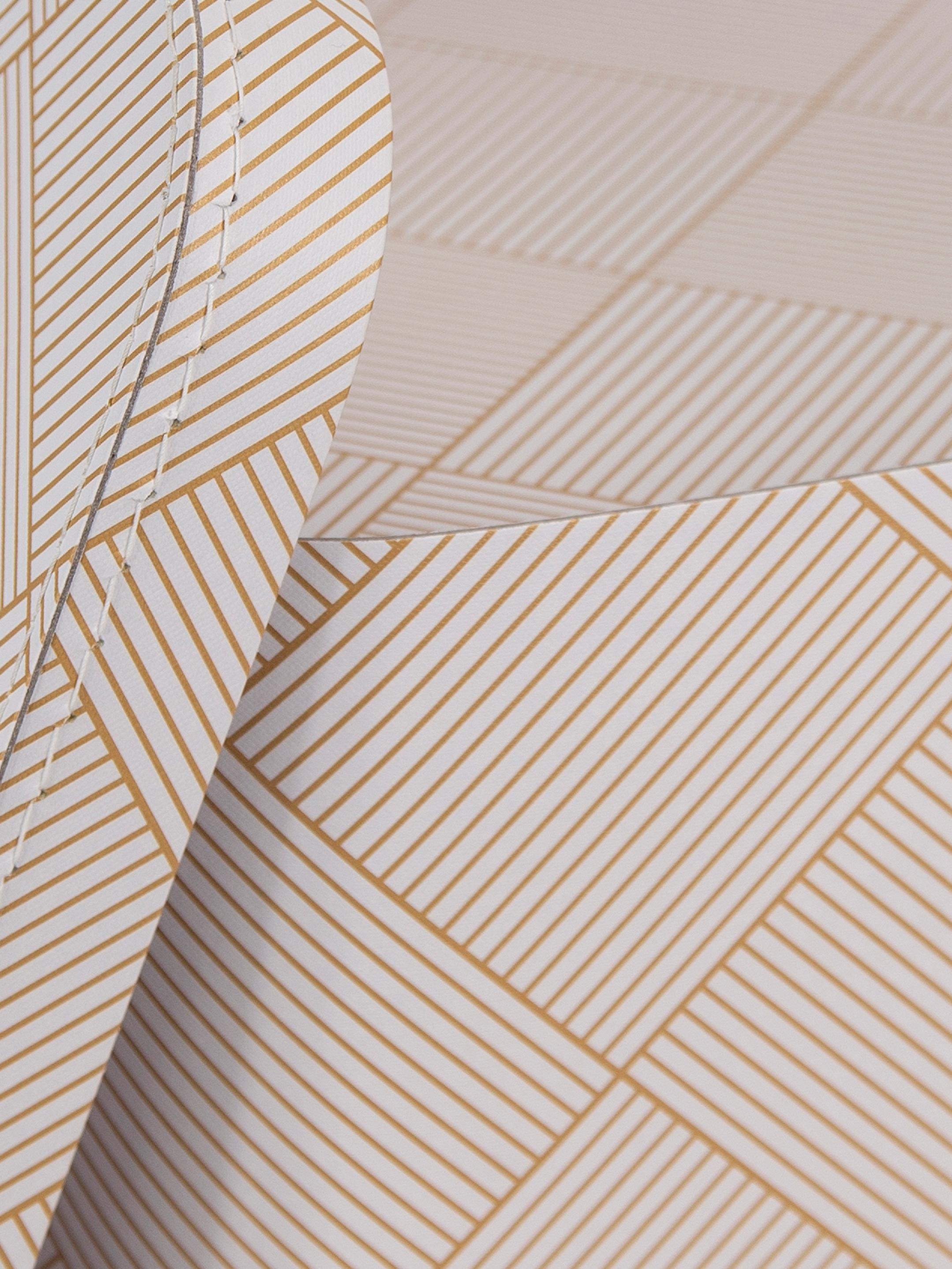 Set 2 scatole custodia Ludvig, Solido, cartone laminato, Dorato, bianco, Set in varie misure