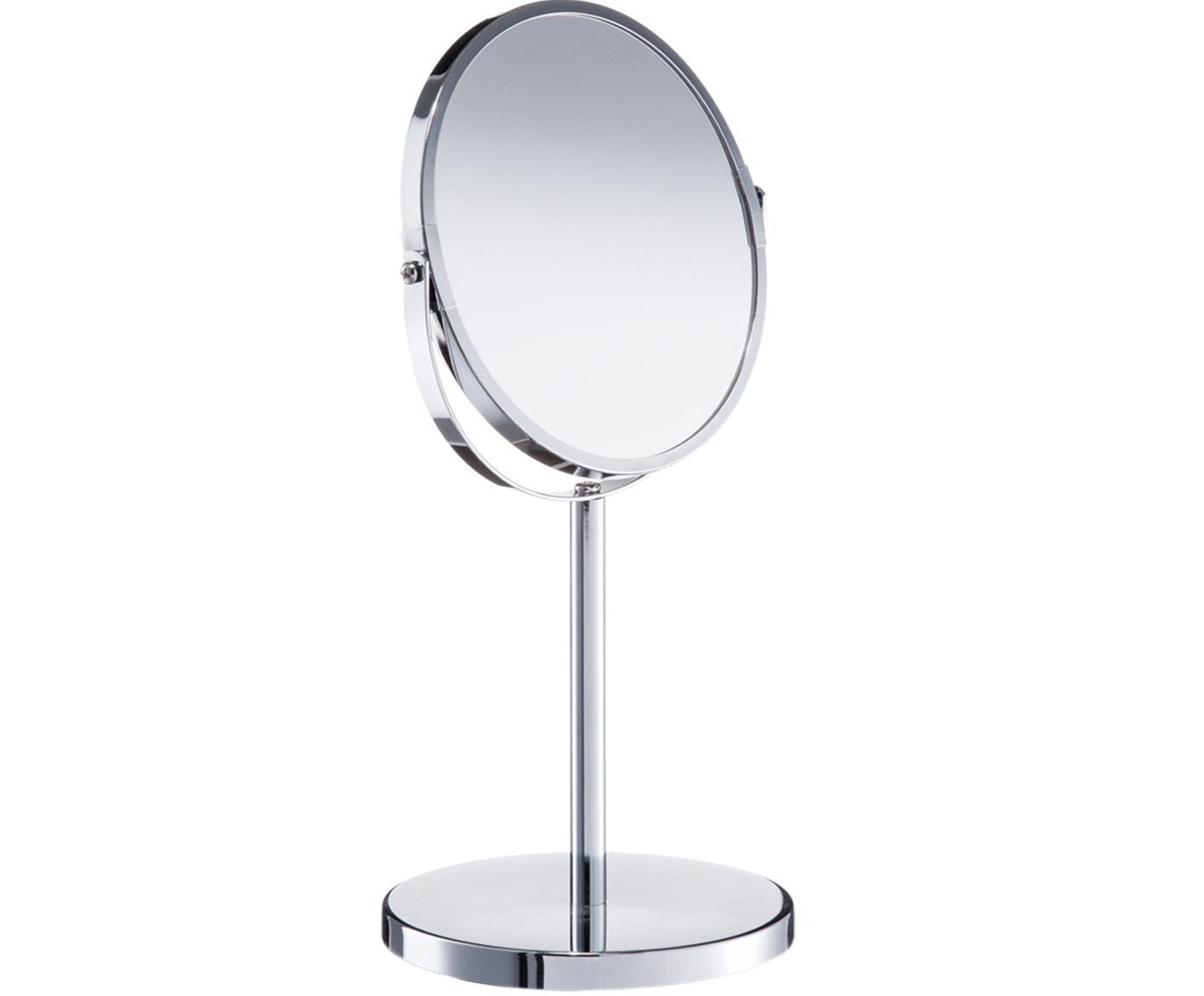 Make-up spiegel Flip met vergrootglas, Zilverkleurig, Ø 17 x H 35 cm
