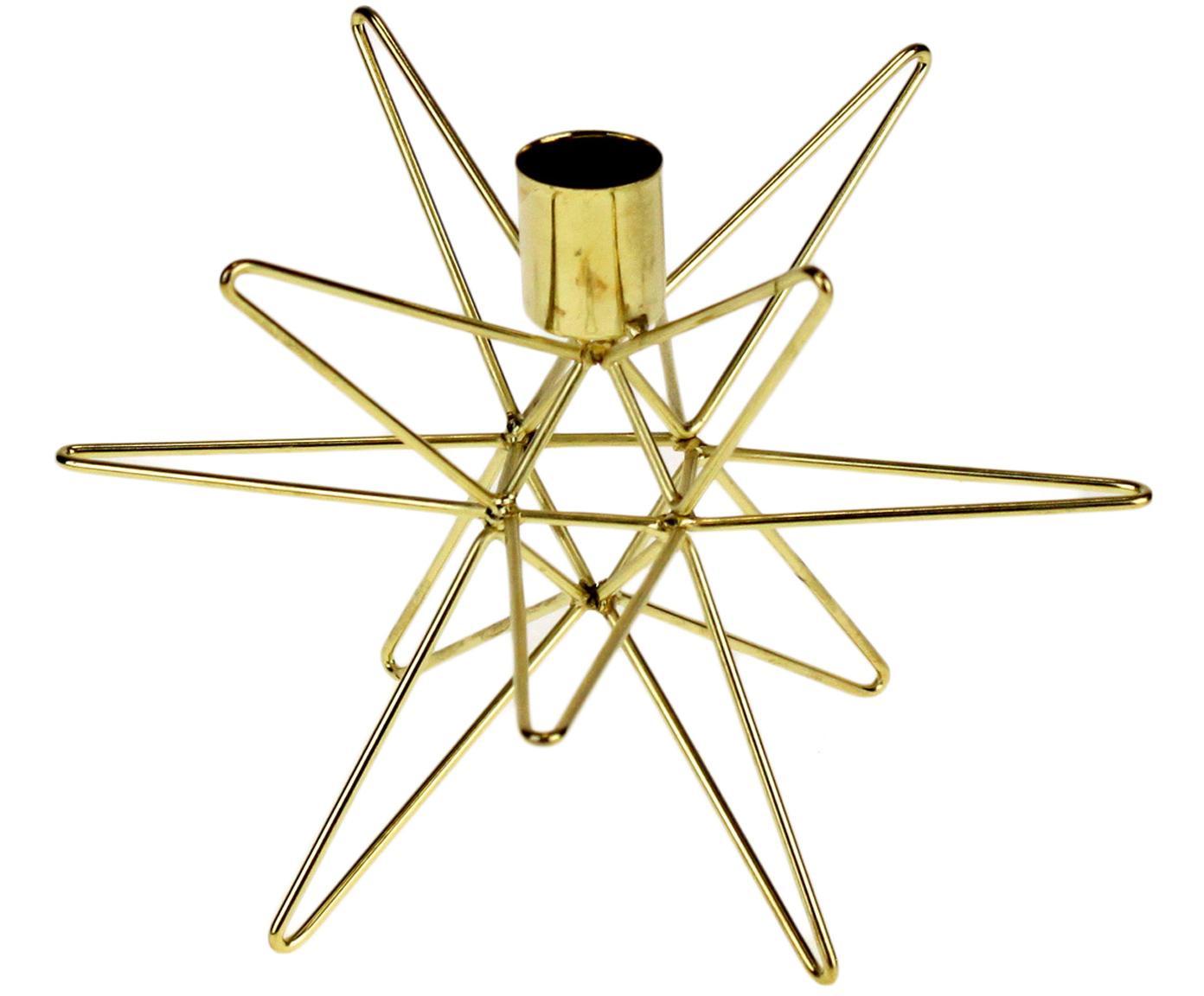 Kandelaar Cosma, Gelakt metaal, Messingkleurig, Ø 19 x H 12 cm