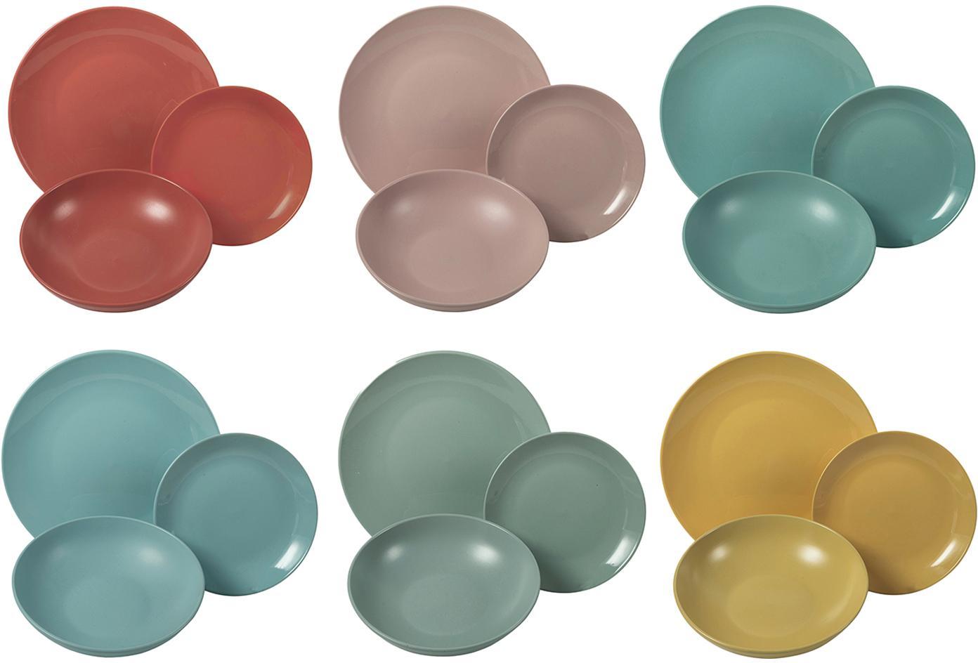 Vajilla South Beach, 6comensales (18pzas.), Gres, Multicolor, Set de diferentes tamaños