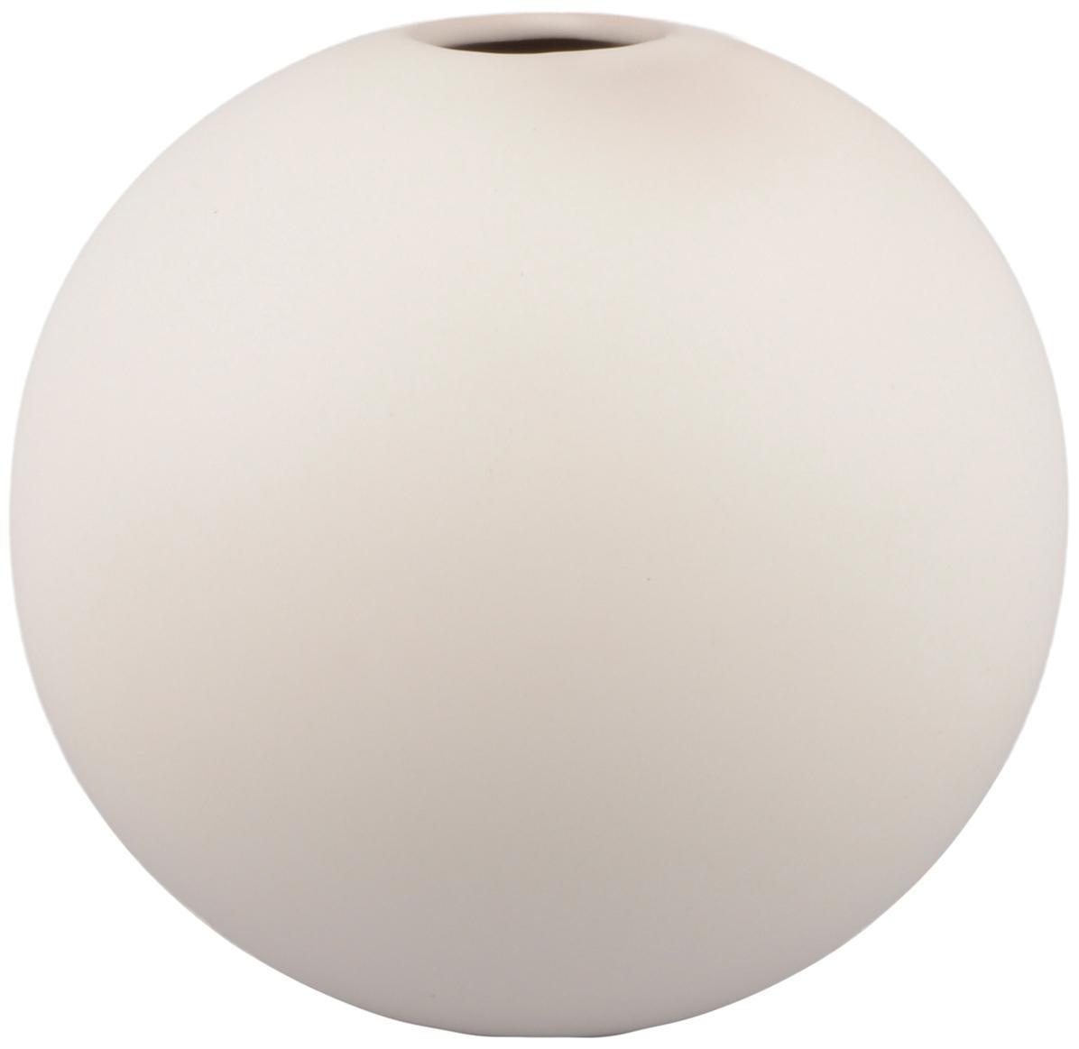 Jarrón de cerámica Rita, Cerámica, Blanco, Ø 12 x Al 12 cm