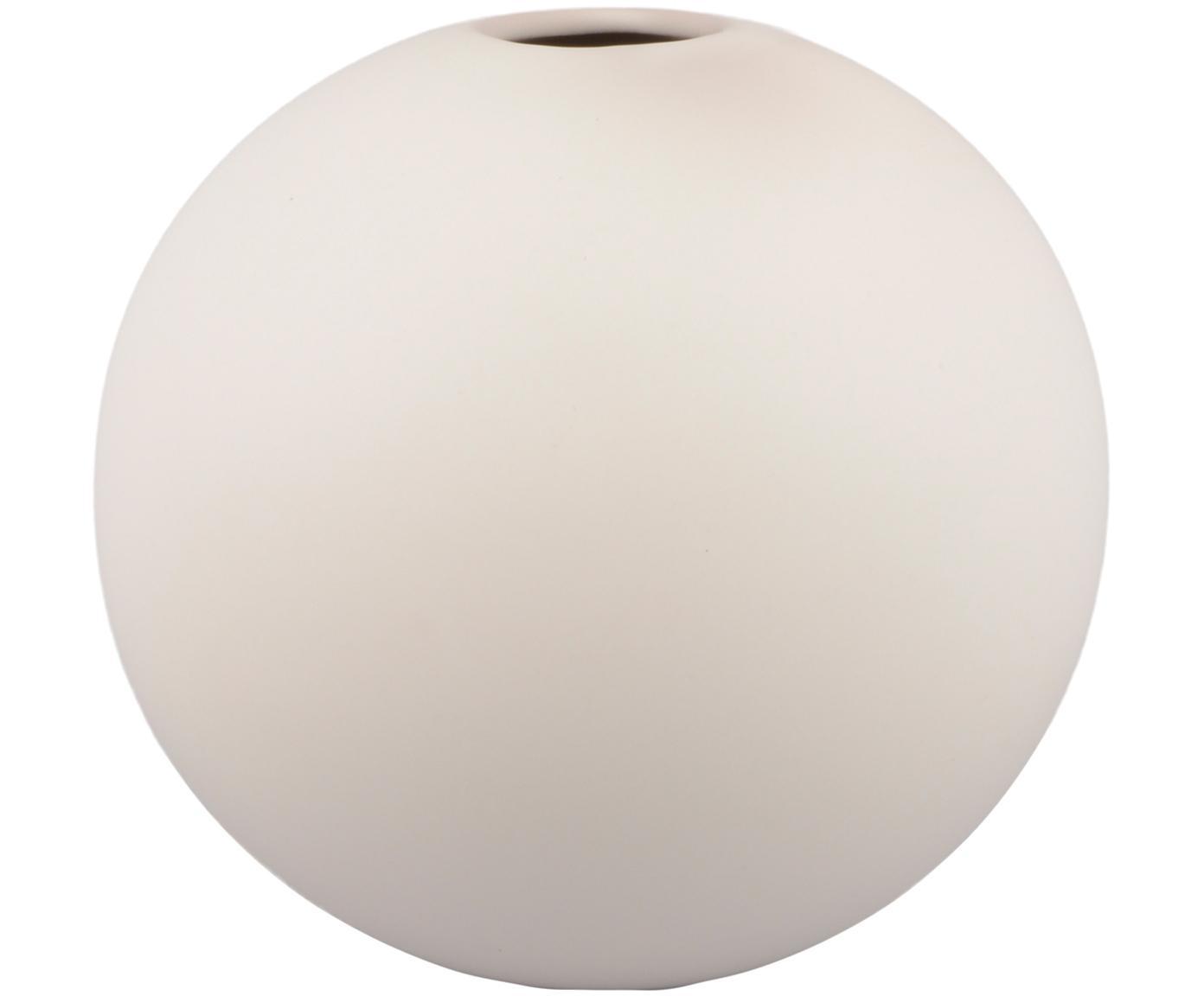 Vaso a sfera in ceramica Rita, Ceramica, Bianco, Ø 12 x Alt. 12 cm
