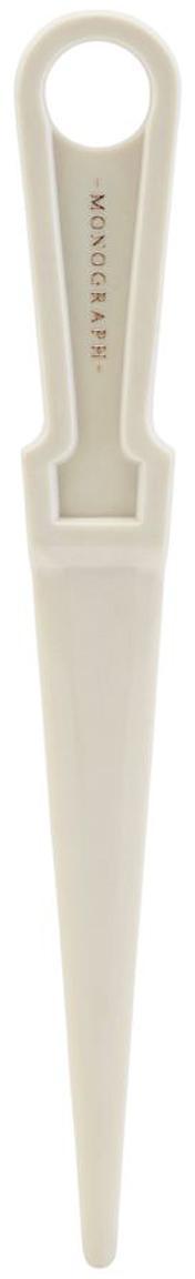 Abrecartas Ligra, Plástico, Gris claro, An 3 x Al 17 cm