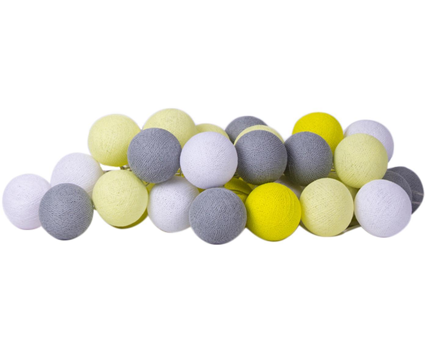 LED lichtslinger Colorain, Lampions: polyester, Geel, wit, grijstinten, L 264 cm