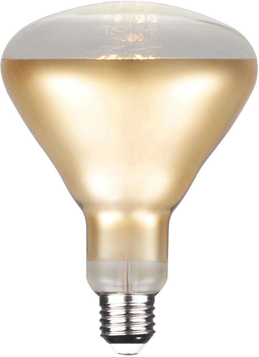 Dimmbares LED-Leuchtmittel Reflektor (E27/7W), Leuchtmittelschirm: Glas, Leuchtmittelfassung: Aluminium, Goldfarben, Ø 13 x H 17 cm
