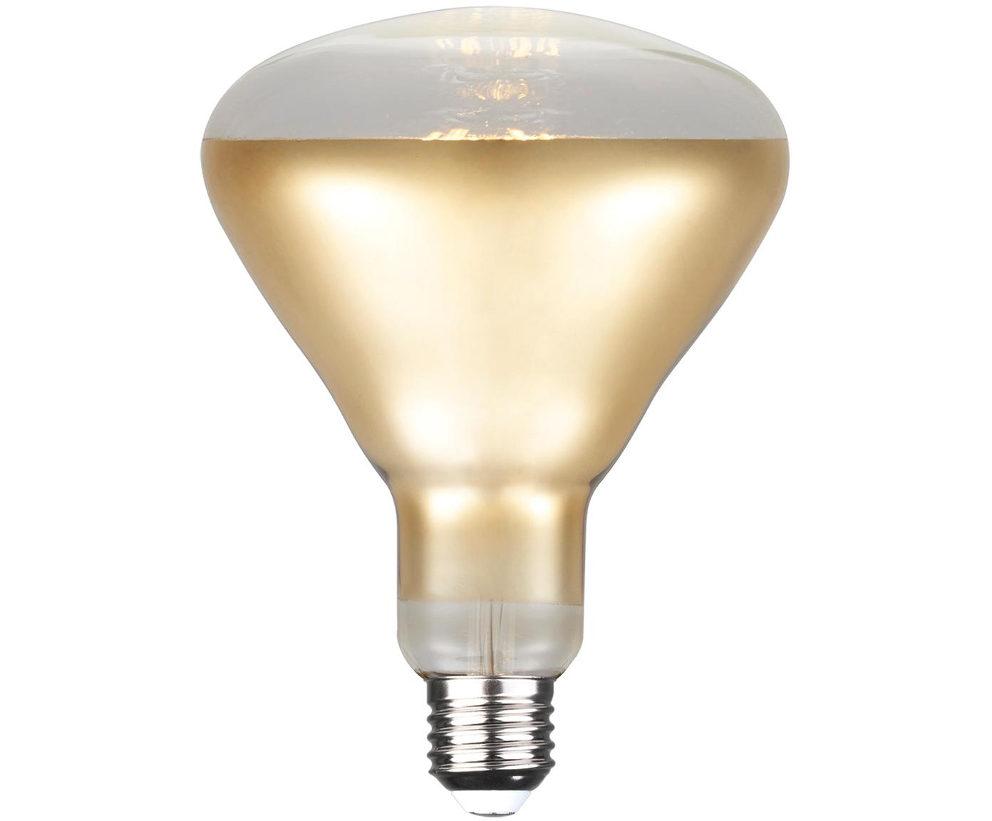 Dimbare LED lamp reflector (E27 / 7W), Lampenkap: glas, Fitting: aluminium, Goudkleurig, Ø 13 x H 17 cm