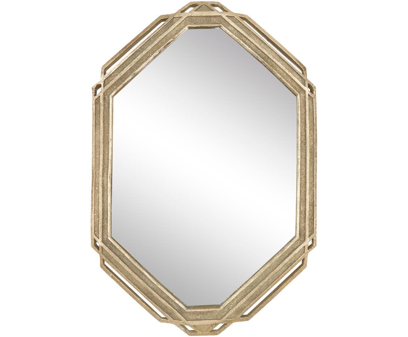Prostokątne lustro ścienne Raute, Poliresing, Odcienie mosiądzu, S 35 x W 52 cm