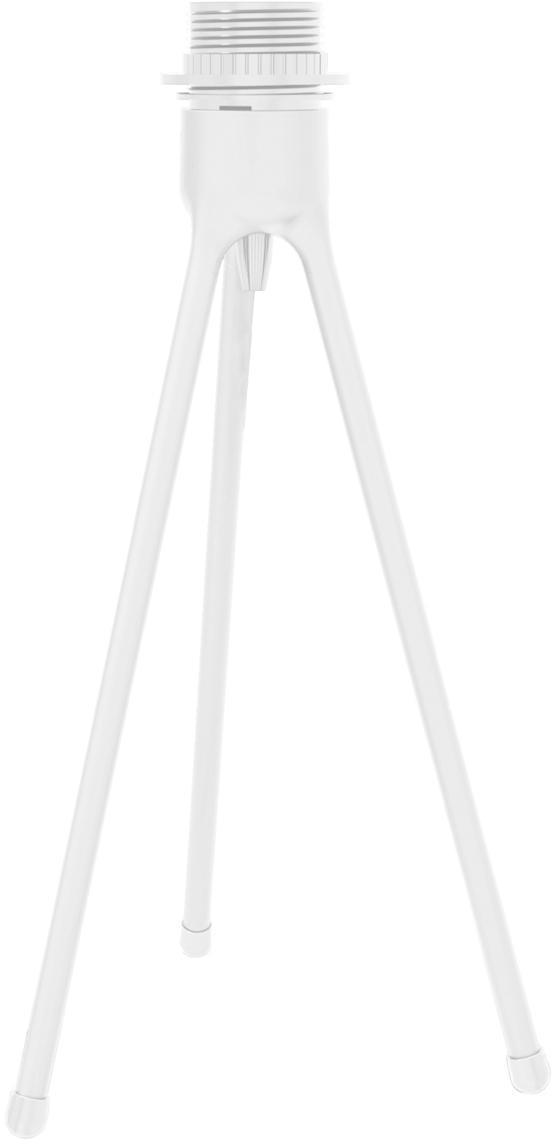 Base de la lámpara de mesa Trípode, Base de la lámpara: aluminio, recubierto, Cable: cubierto en tela, Blanco, Ø 19 x Al 36 cm