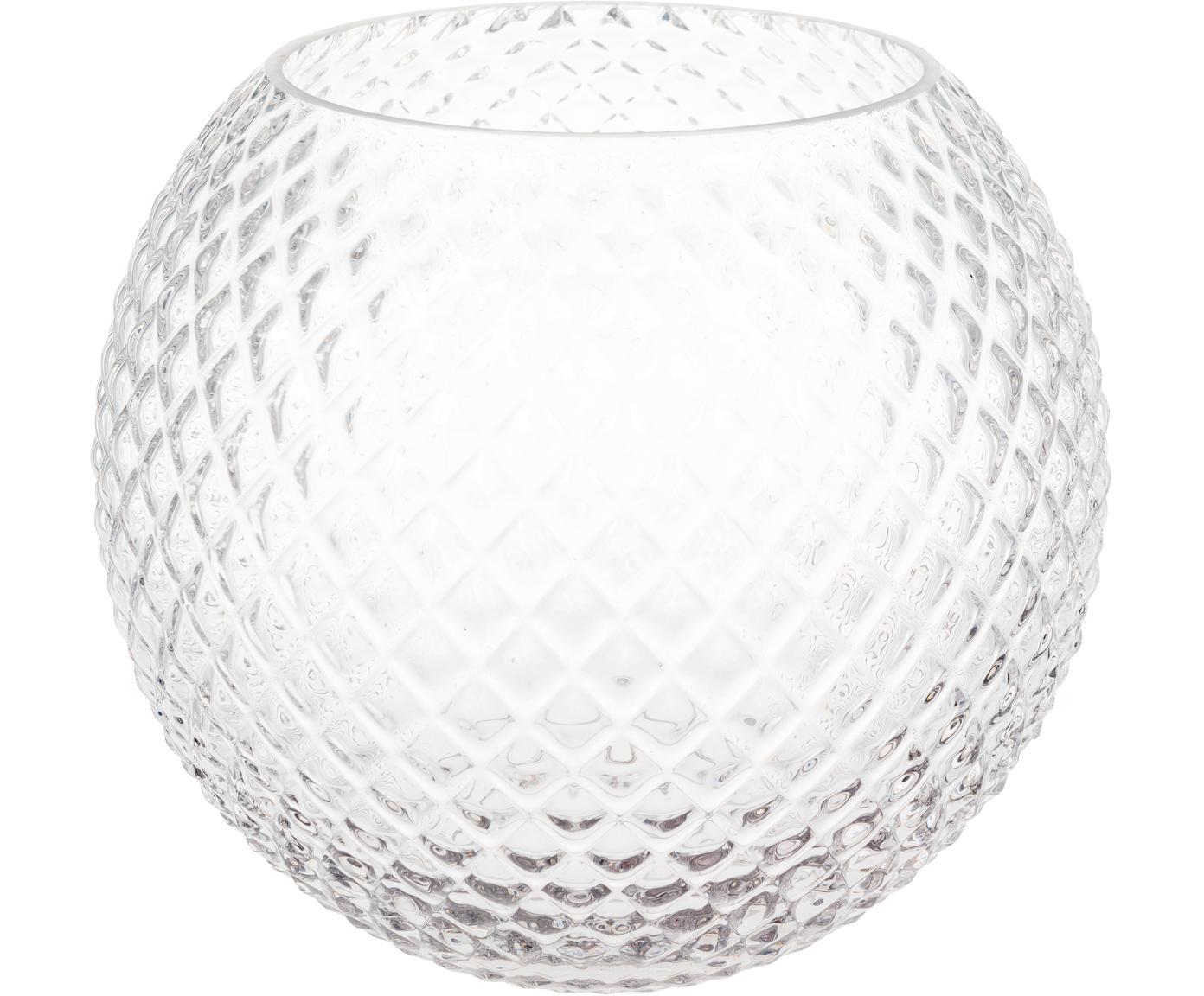 Jarrón de vidrio Ilse, Vidrio, Transparente, Ø 23 x Al 19 cm