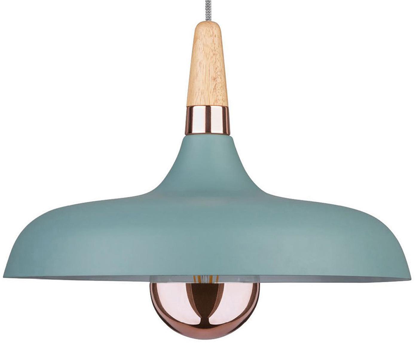 Scandi hanglamp Juna, Turquoise, Ø 34 x H 23 cm