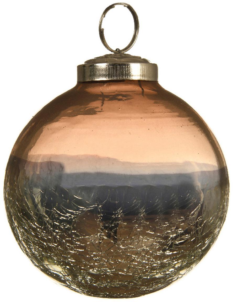 Palla di Natale Pixie Ø 8 cm, 2 pz, Marrone, blu, Ø 8 cm