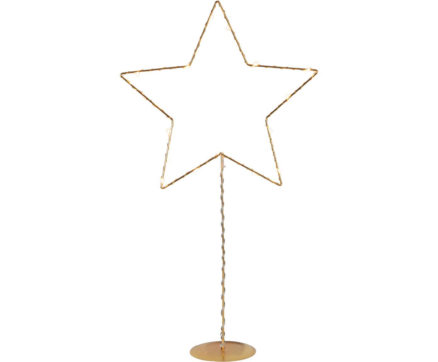 Lámpara decorativa LED a pilas Sparkling, Lámpara: metal, Cable: plástico, Dorado, An 31 x Al 60 cm