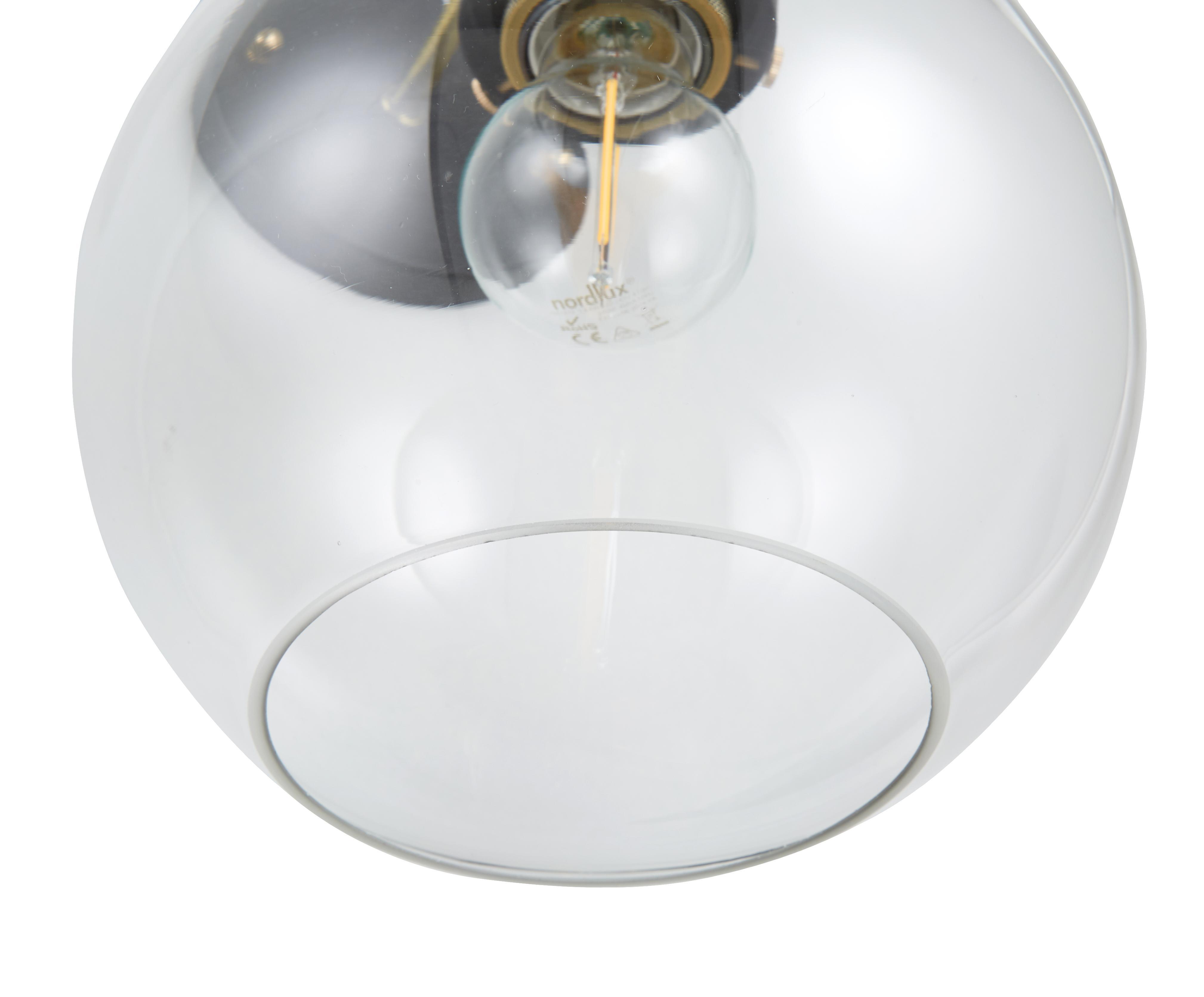 Applique style industriel New York Loft nº2, Noir, laiton, transparent