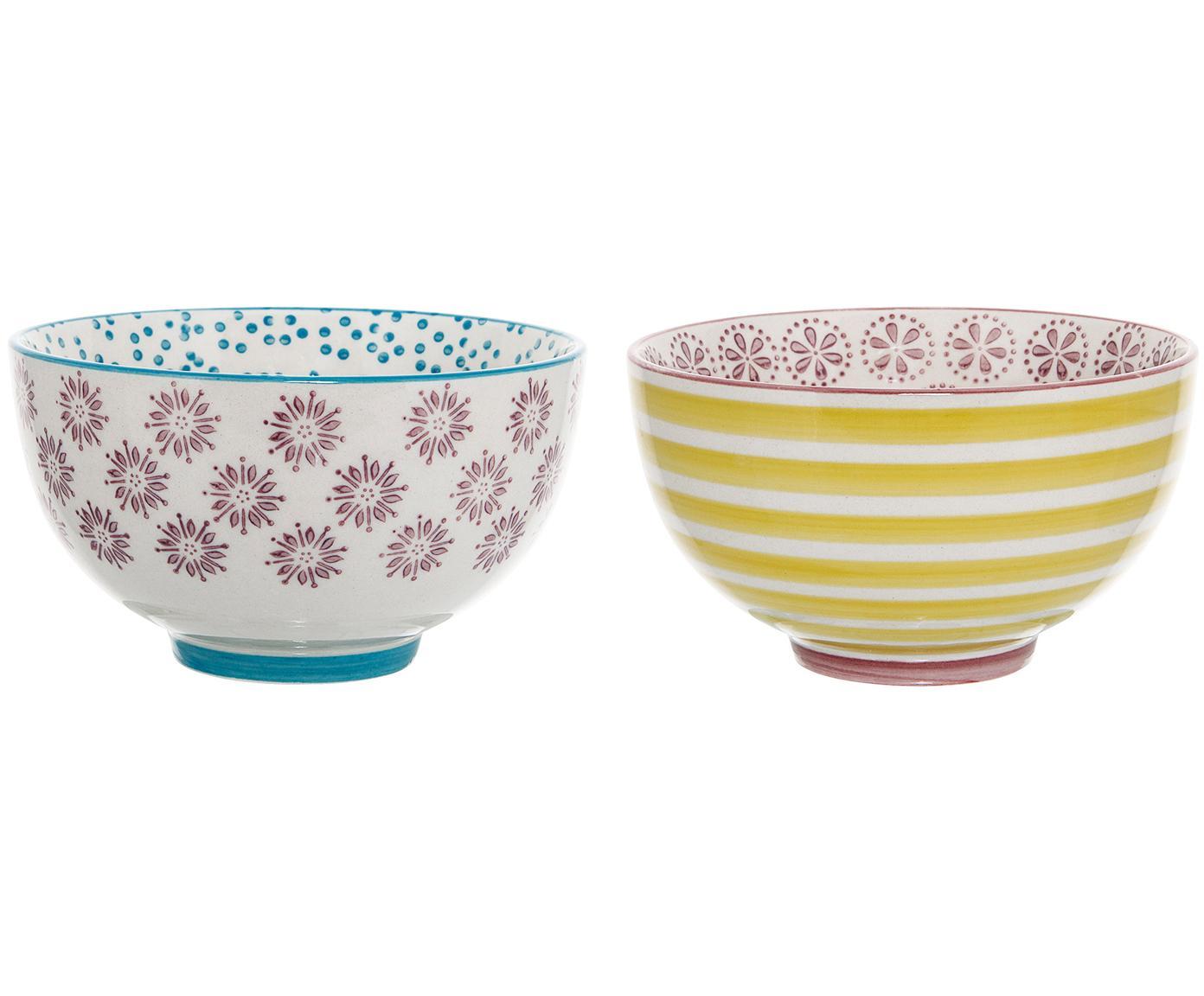 Set 2 ciotole Patrizia, Ceramica, Multicolore, Ø 12 x Alt. 7 cm