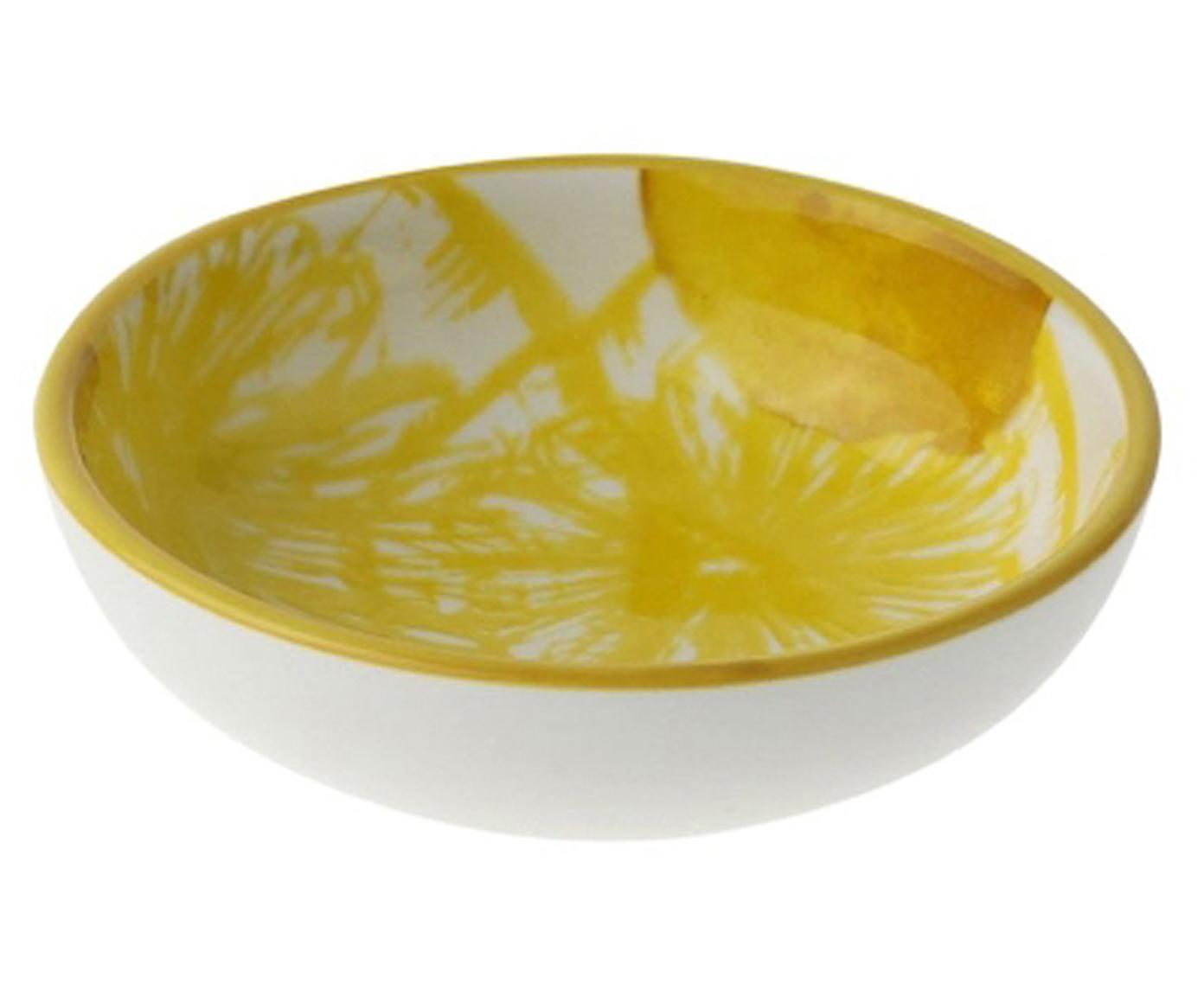 Dipschalen Lemon mit Zitronen-Motiv, 2 Stück, Porzellan, Weiß, Gelb, Ø 9 x H 3 cm