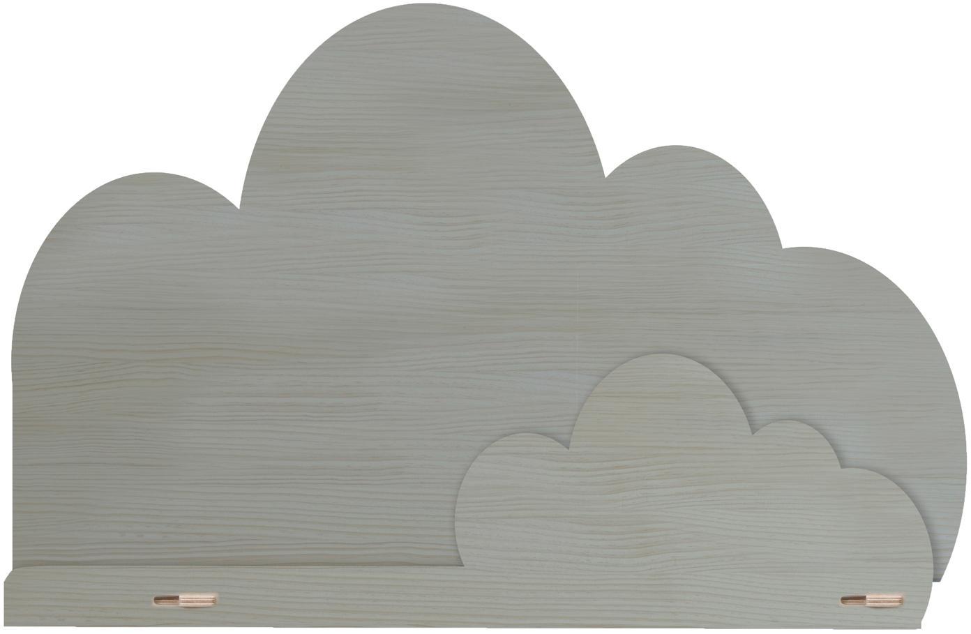 Mensola nuvole in legno Cloud, Compensato, rivestito, Grigio, Larg. 45 x Alt. 30 cm