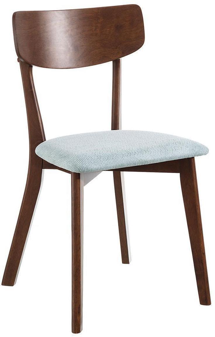 Silla tapizada Agun, Estructura: madera de caucho, Tapizado: 100%poliéster, Aguamarina, An 45 x Al 80 cm