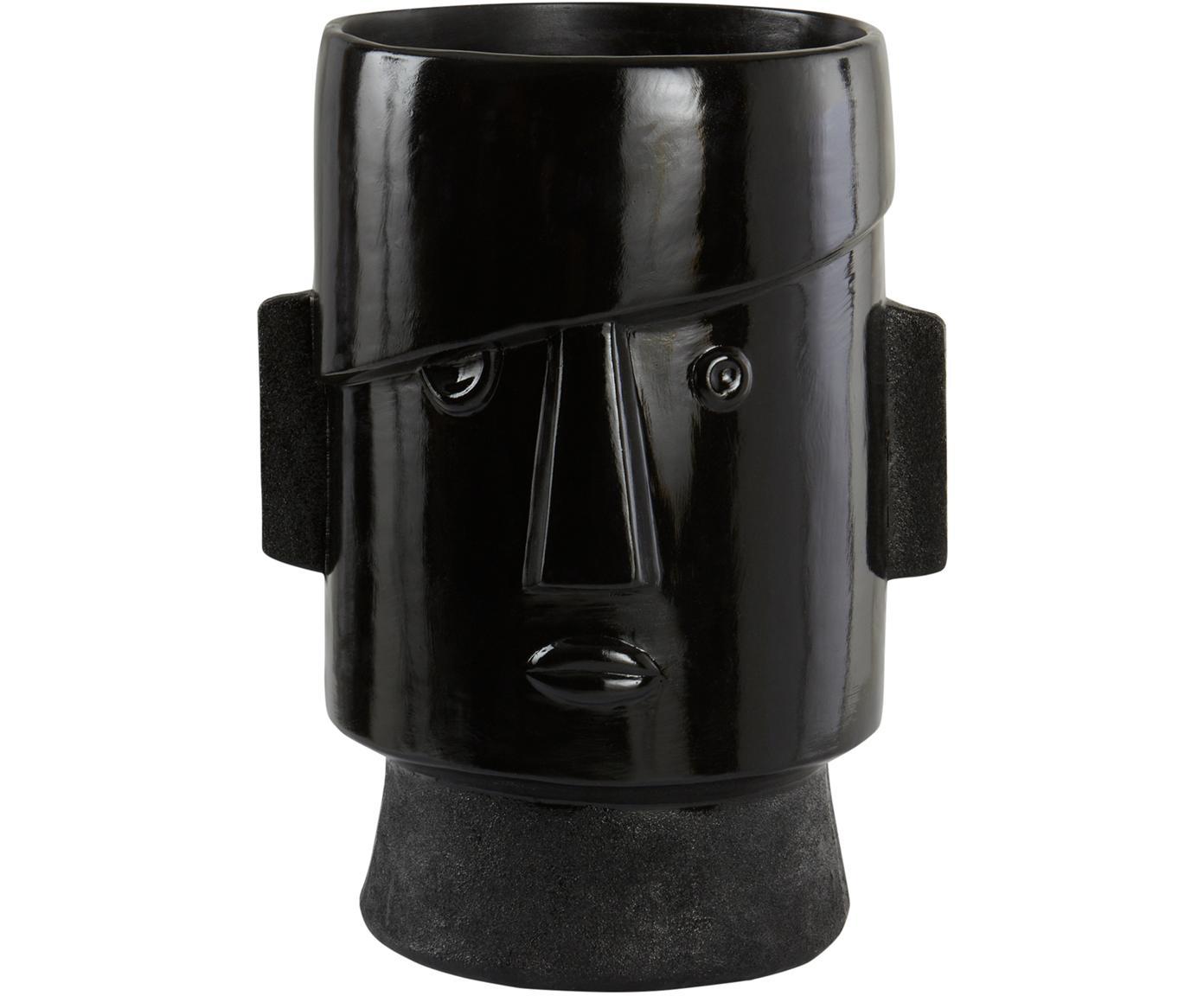 Osłonka na doniczkę Facie, Poliresing, Czarny, D 27 x W 40 cm