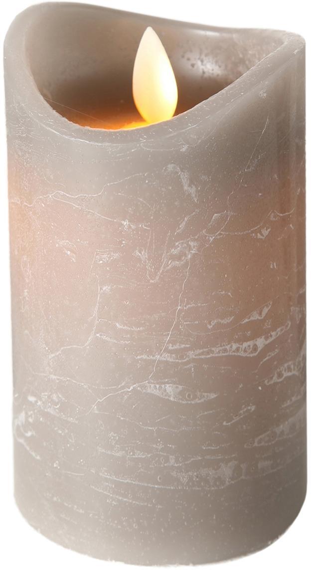 LED Kerze Bino, Grau, Ø 8 x H 12 cm