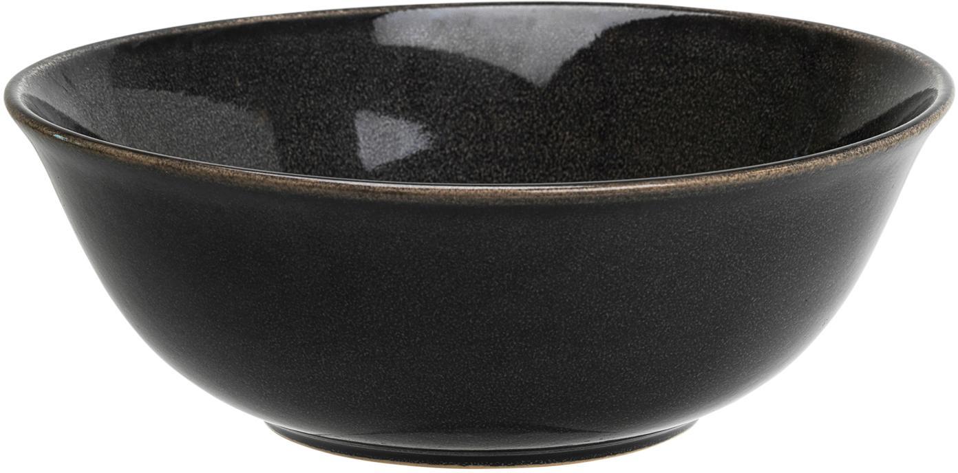 Handgemachte Schüssel Nordic Coal Ø 21 cm aus Steingut, Steingut, Bräunlich, Ø 21 x H 8 cm