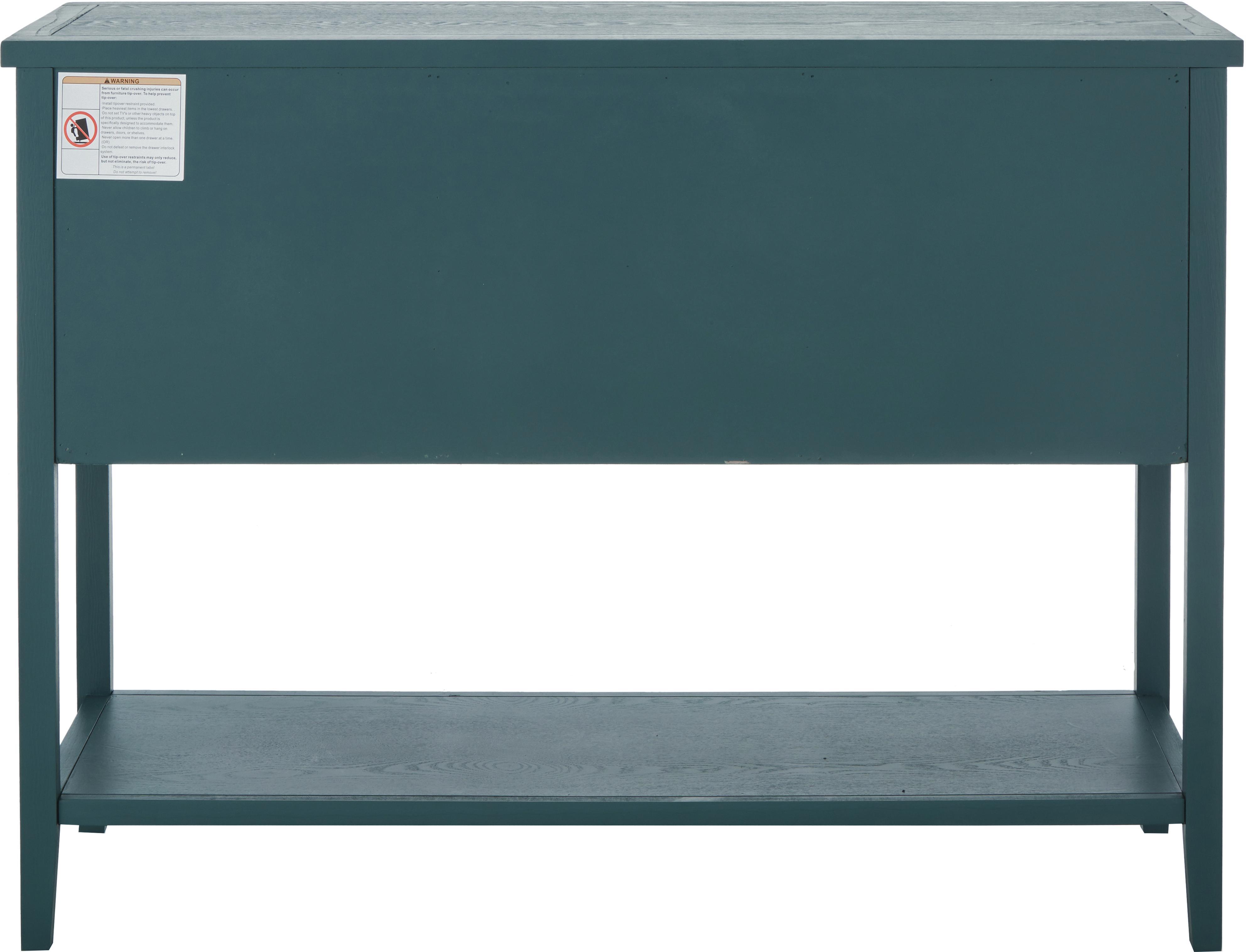 Credenza country Amy, Petrolio, Larg. 116 x Alt. 86 cm