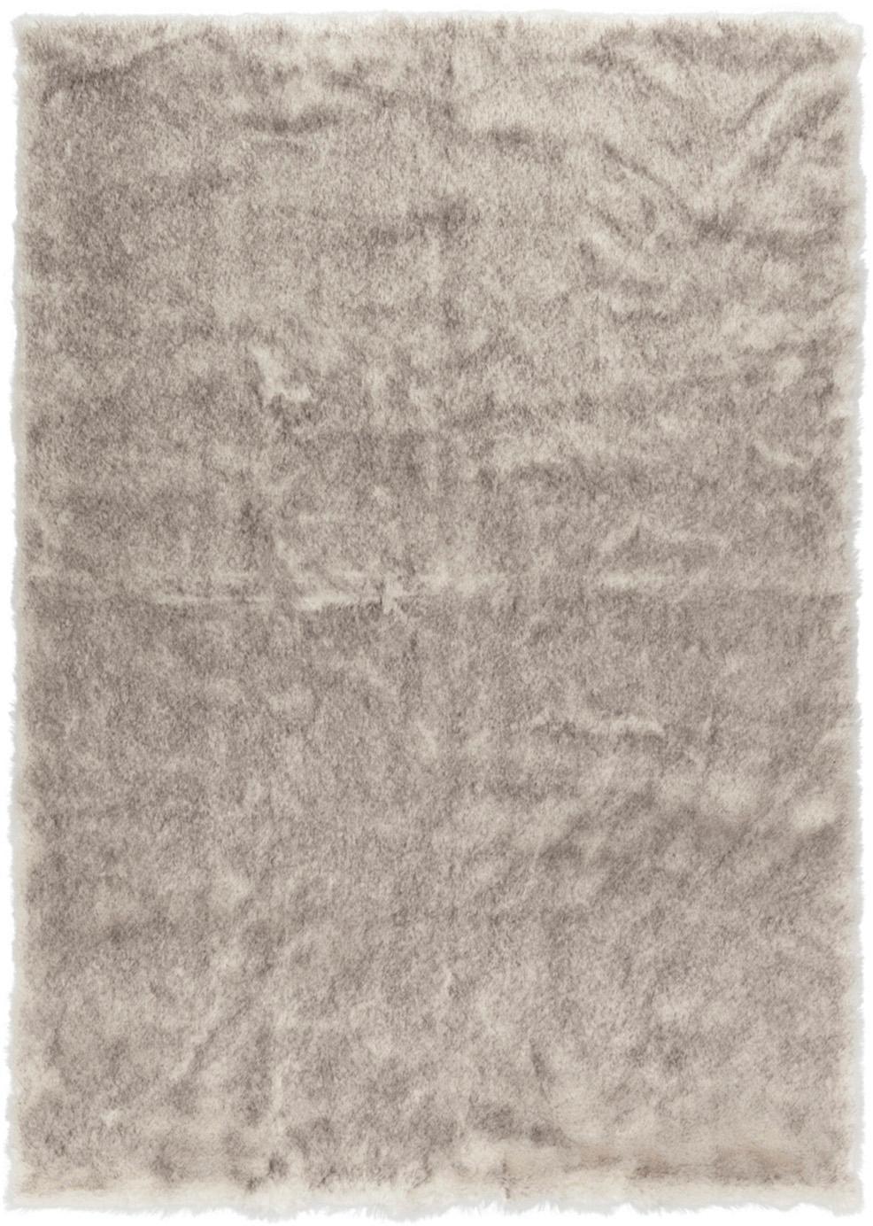 Alfombra de piel sintética Superior, Parte superior: 95% acrílico, 5% poliéste, Reverso: cuero sintético, Crema, beige, blanco, An 160 x L 230 cm (Tamaño M)