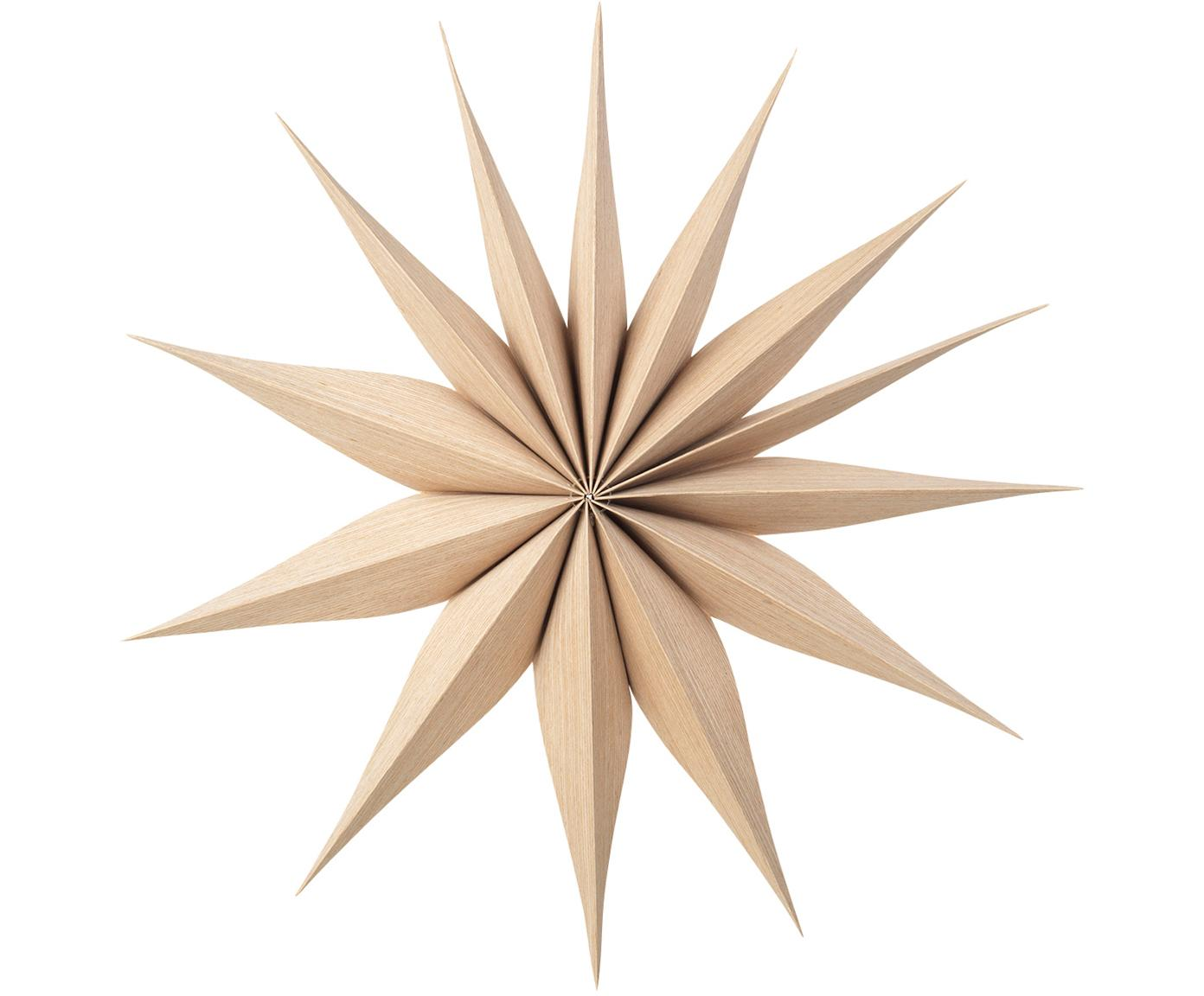 Decoratieve sterren Venok, 2 stuks, Dun hout, Lichtbruin, Ø 40 cm