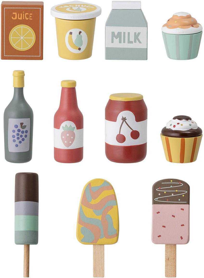 Set di giocattoli Food, Legno di loto, pannelli di fibra a media densità (MDF), Multicolore, Larg. 6 x Alt. 10 cm