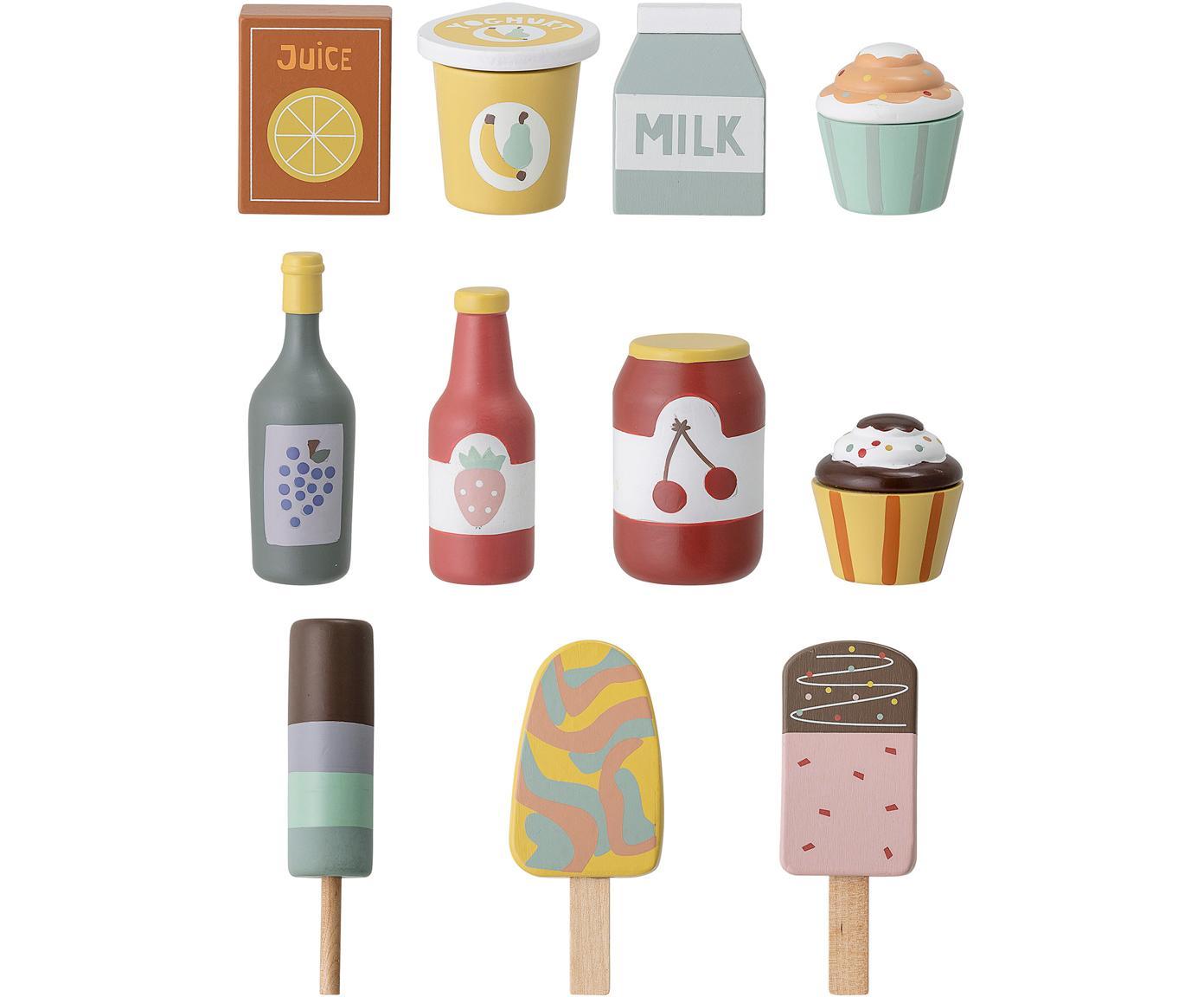 Set de juguetes Food, Madera de loto, tablero de fibras de densidad media (MDF), Multicolor, An 6 x Al 10 cm