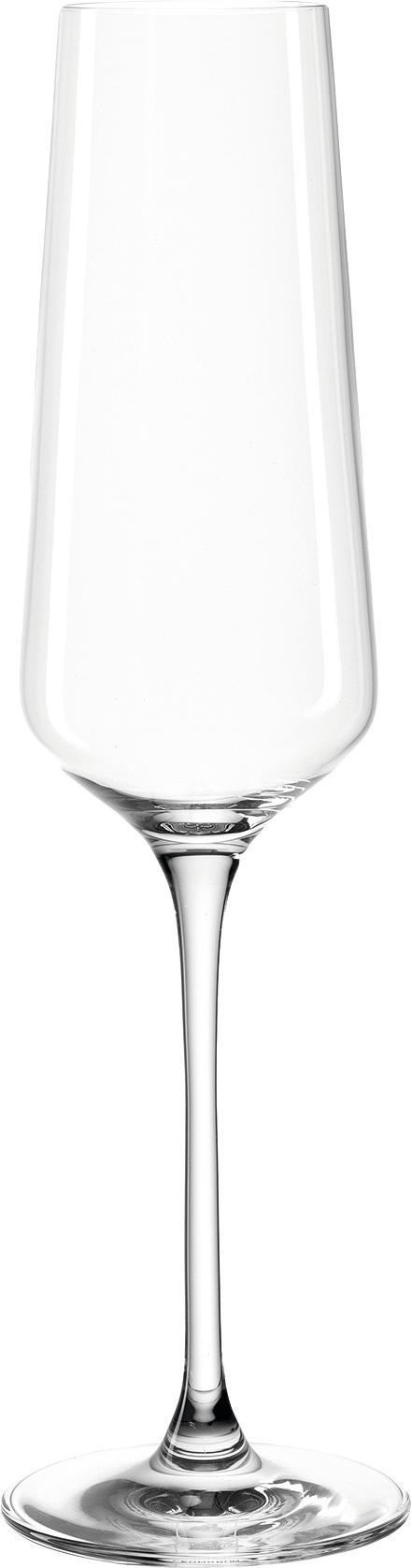 Flute champagne Puccini 6 pz, vetro Teqton®, Trasparente, Ø 7 x Alt. 26 cm