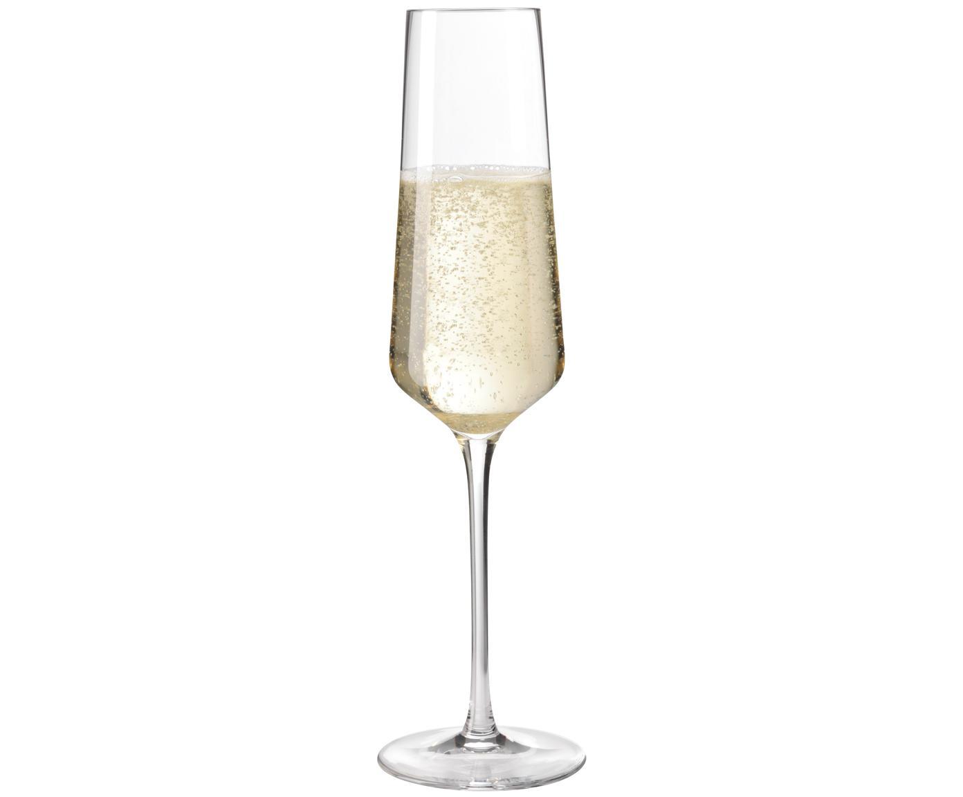 Champagneglas Puccini, 6 stuks, Teqton® glas, Transparant, Ø 7 x H 26 cm