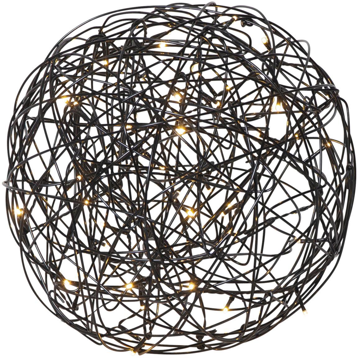 LED Aussenleuchte Trassel, Metall, Aluminium, Schwarz, Ø 30 x H 30 cm