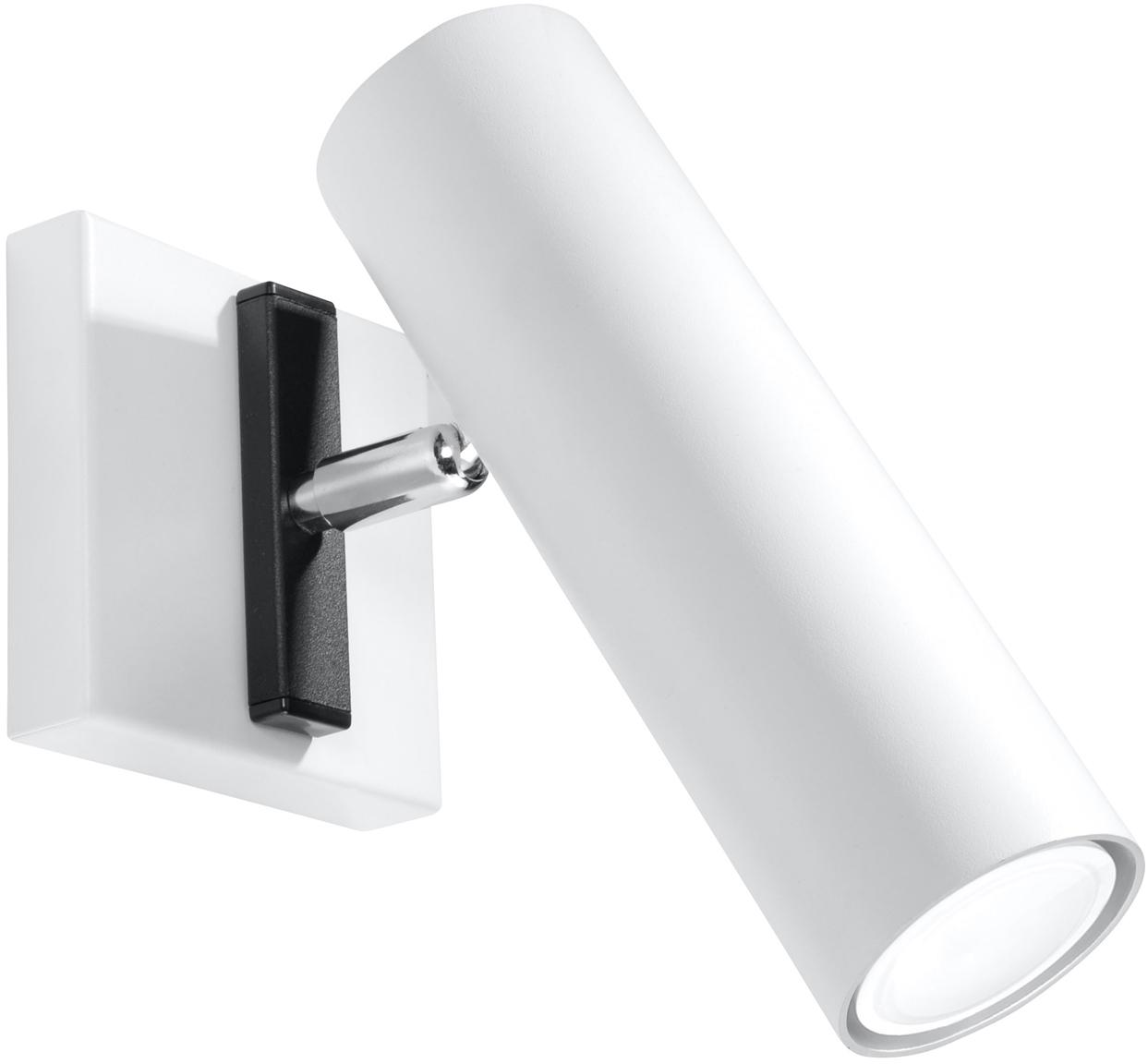 Wandleuchte Mira, Lampenschirm: Stahl, Weiß, 18 x 18 cm
