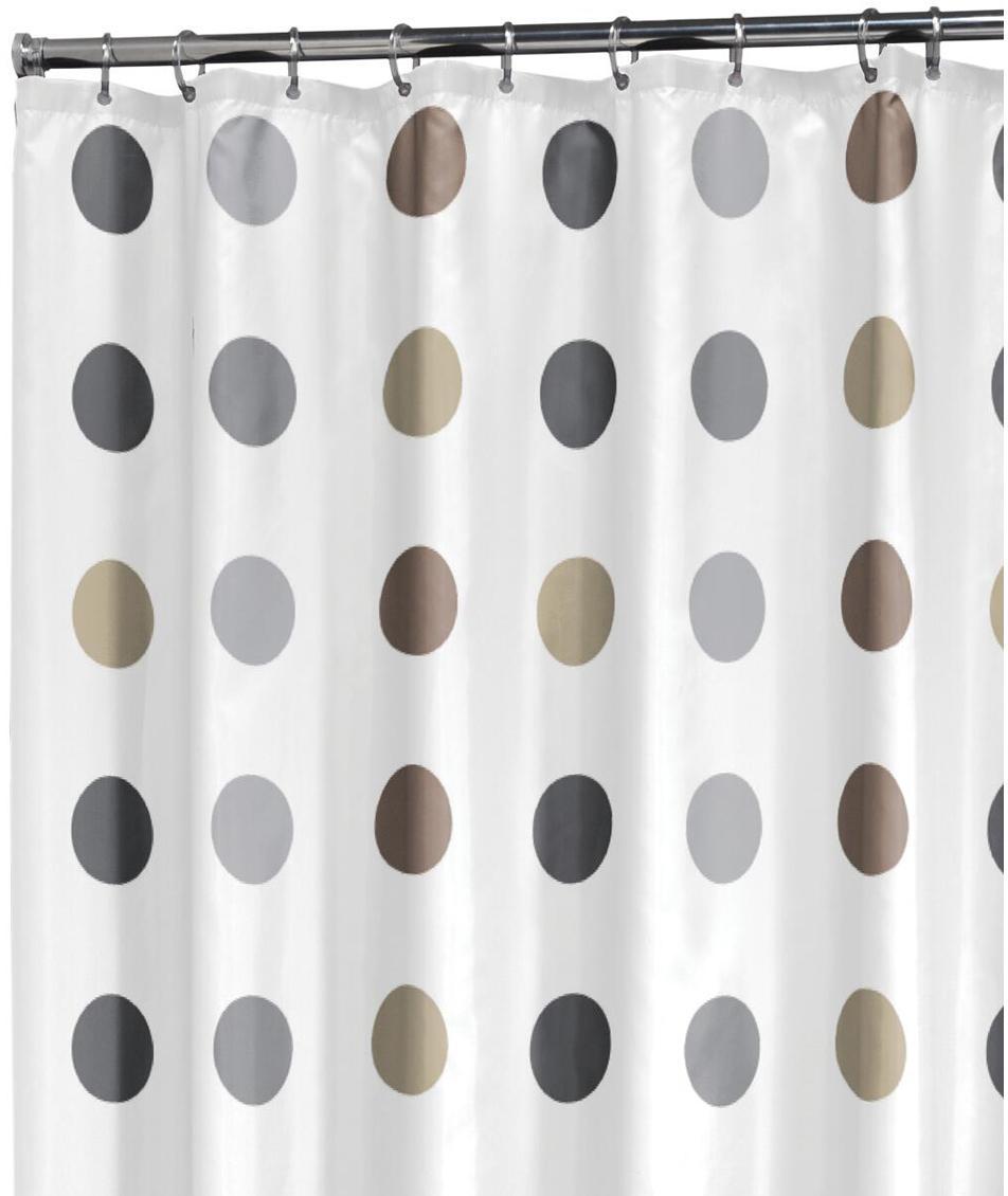 Duschvorhang Twister, 100% Polyester Wasserabweisend, nicht wasserdicht, Weiss, Beige, Taupe, Grau, 180 x 200 cm