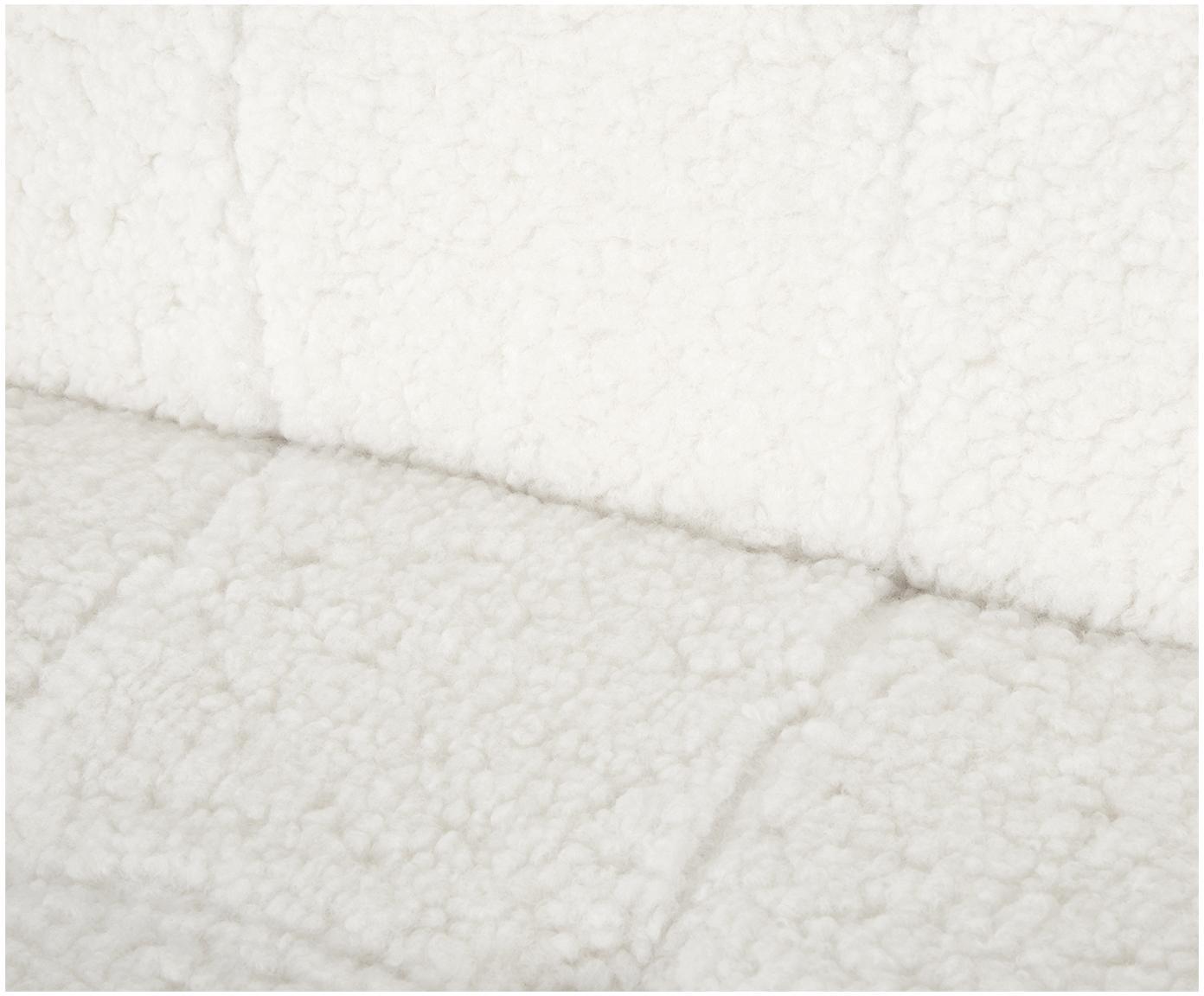 Fotel Teddy Manhattan, Tapicerka: poliester (futro Teddy), Stelaż: metal powlekany, Kremowobiały teddy, S 70 x G 72 cm