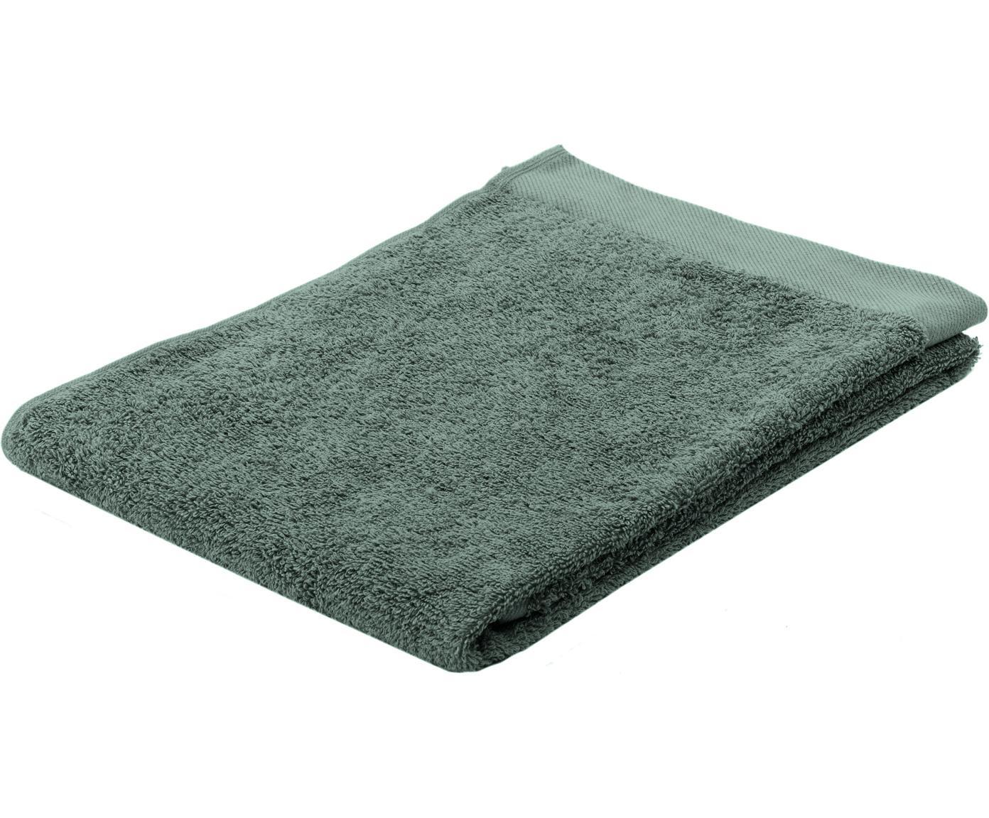 Asciugamano in cotone misto riciclato Blend, 65% cotone riciclato, 35% poliestere riciclato, Verde, Asciugamano per ospiti