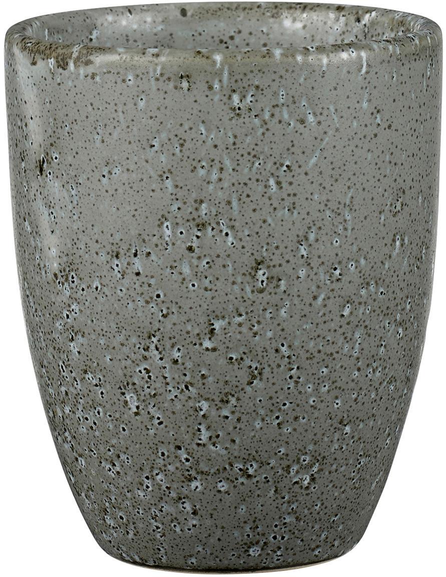 Tazas Stone, 2uds., Gres, esmaltado, Gris, Ø 8 x Al 10 cm