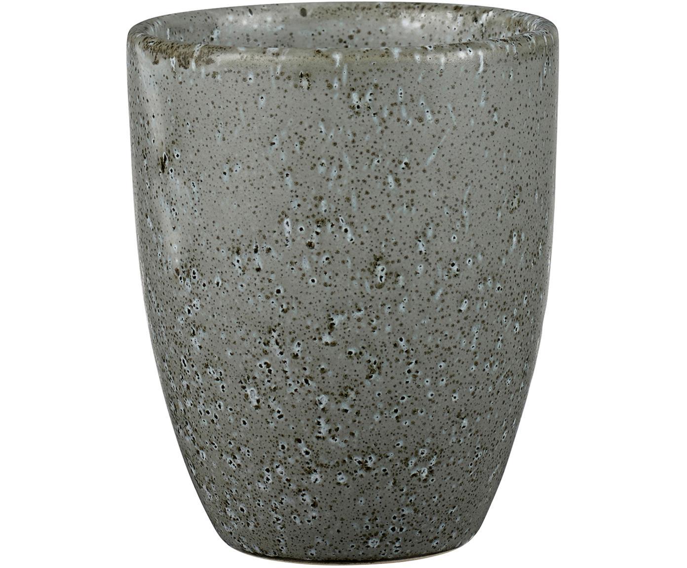 Becher Stone, 2 Stück, Steingut, glasiert, Grau, Ø 8 x H 10 cm