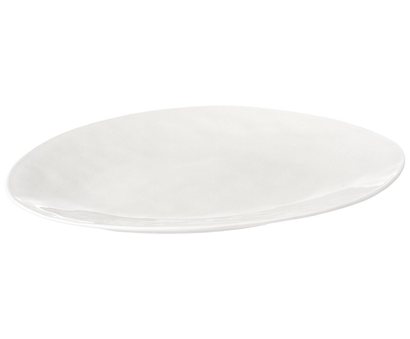 Porzellan-Servierplatte ŕ la Maison in Creme, Porzellan, Creme, 28 x 34 cm