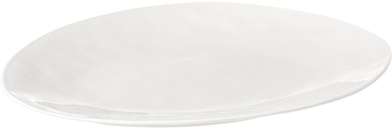 Fuente de porcelana Maison, Porcelana, Crema, An 28 x L 34 cm