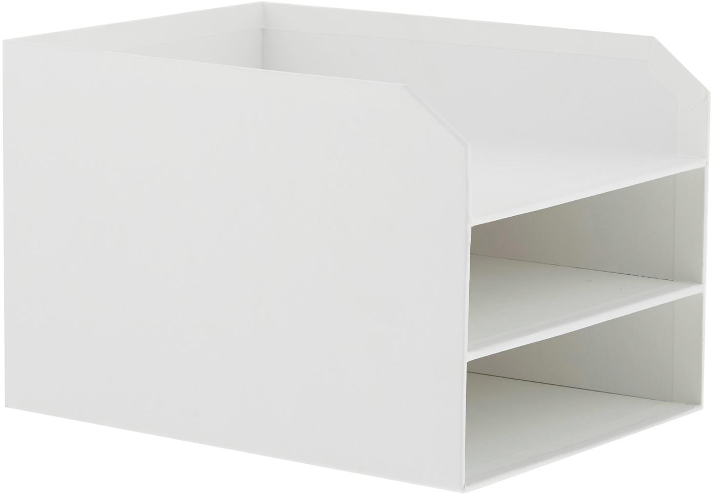 Dokumenten-Ablage Trey, Fester, laminierter Karton, Weiss, 23 x 21 cm