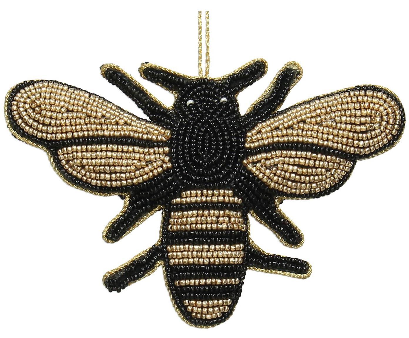 Baumanhänger Bee, 2 Stück, Goldfarben, Schwarz, 14 x 10 cm
