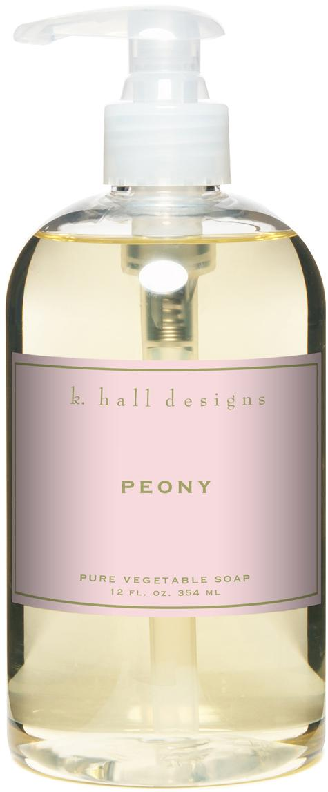 Flüssige Handseife Peony (Blumenduft), Transparent, Ø 7 x H 16 cm