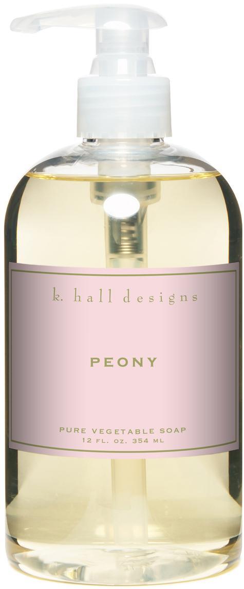 Vloeibare handzeep Peony (bloemgeur), Transparant, Ø 7 x H 16 cm