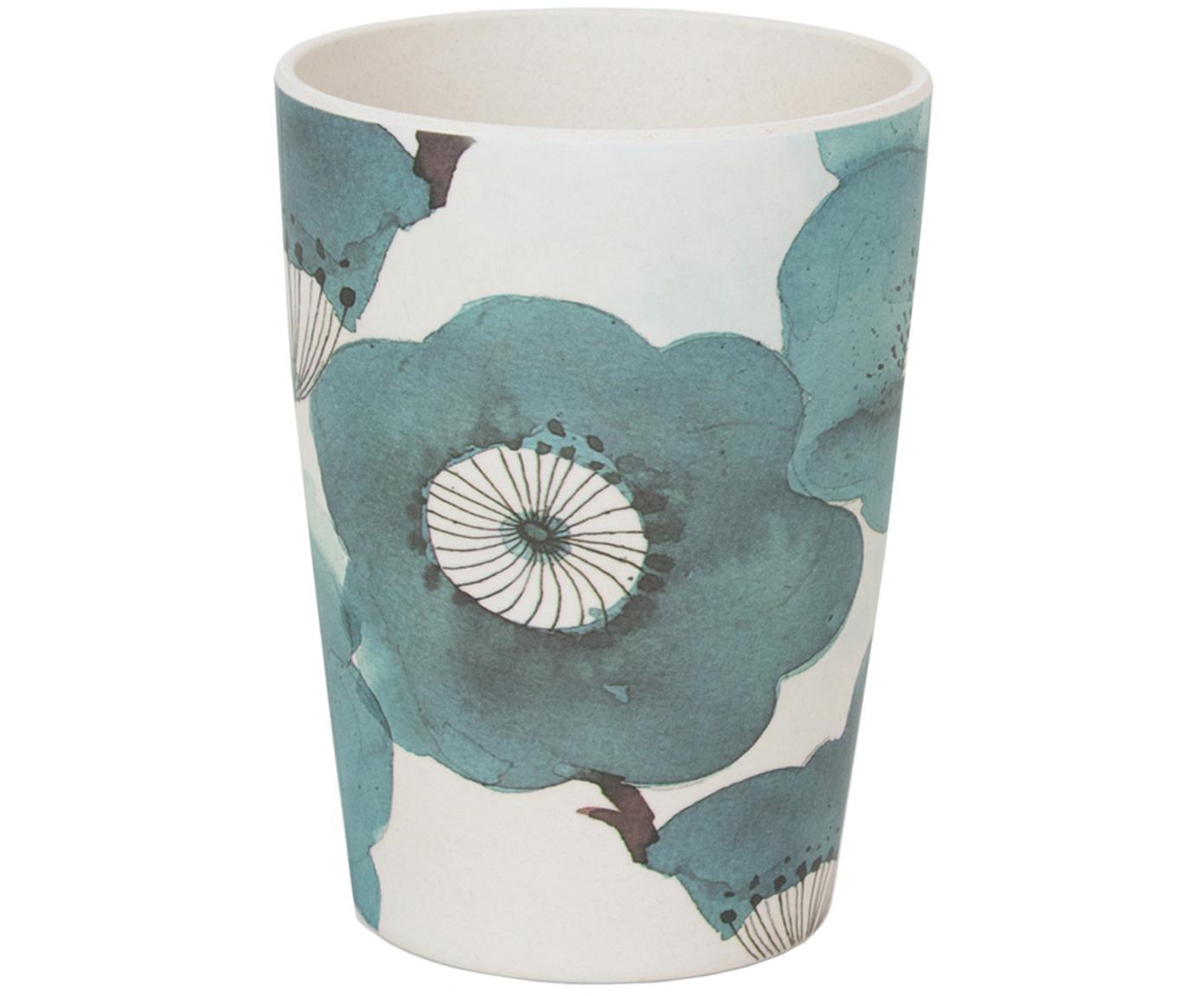 Taza de bambú Sakura, Fibras de bambú, pintado, Azul, Ø 8 x Al 11 cm