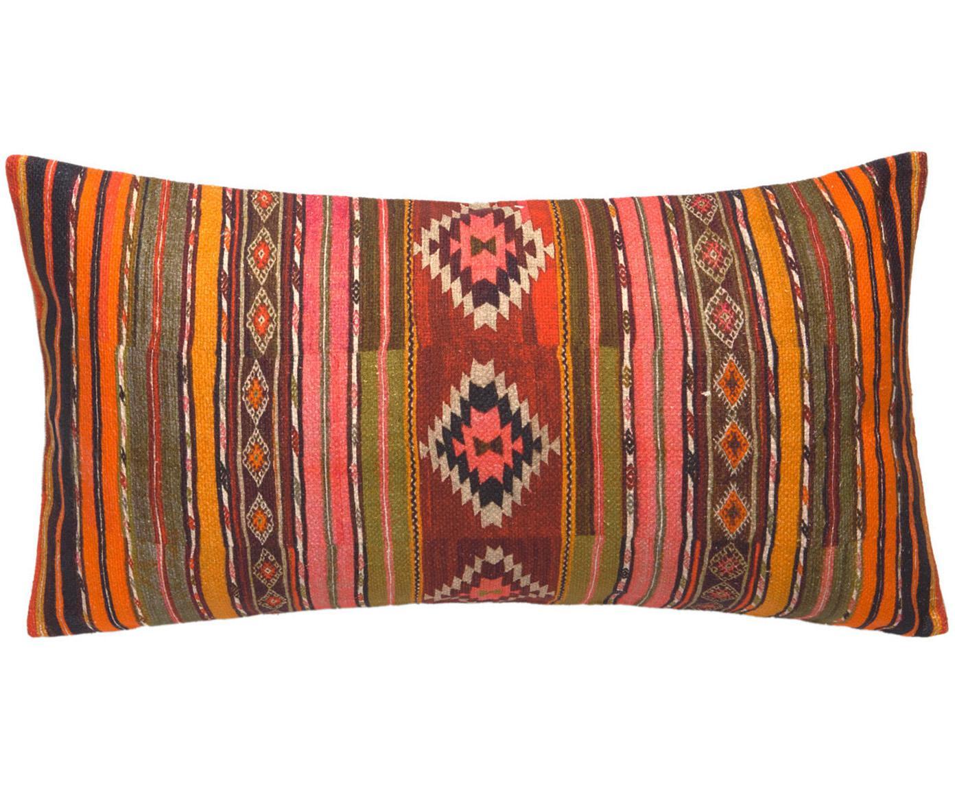 Funda de cojín Kusa, estilo étnico, 100%algodón, Multicolor, An 30 x L 60 cm
